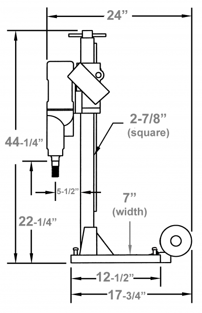 "M-1 Combination - Location to drill anchor hole = 12-1/2"" measured from the center of the motor spindle to the center of the anchor/ vacuum slot on base"
