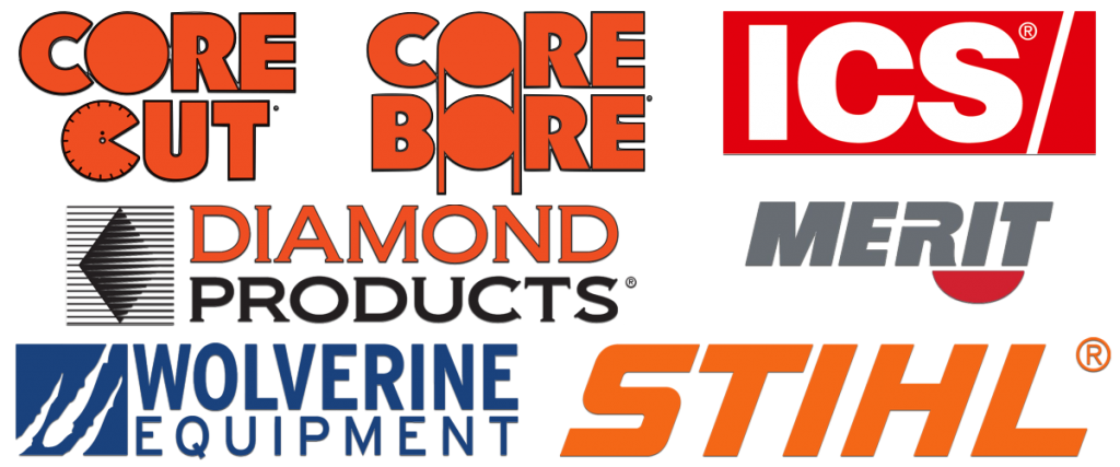 SALES, REPAIRS AND SERVICE FOR CORE CUT, CORE BORE, DIAMOND PRODUCTS. ICS, MERIT, WOLVERINE, STIHL