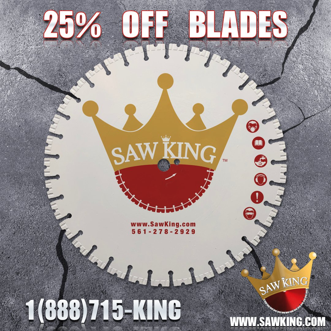 SUMMER 2020 SALE! 25% OFF SAW KING BLADES!